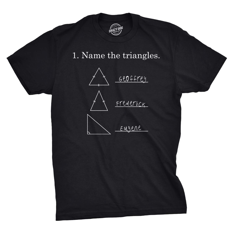 29e29926 Amazon.com: Mens Name The Triangles Funny Math T Shirts Sarcasm Novelty I  Love Math Tee for Guys: Clothing