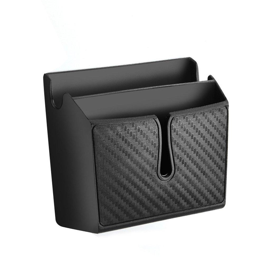 Delleu 1x Multifunctional Car Auto Accessories Organizer Storage Box Phone Holder Black Car compartment