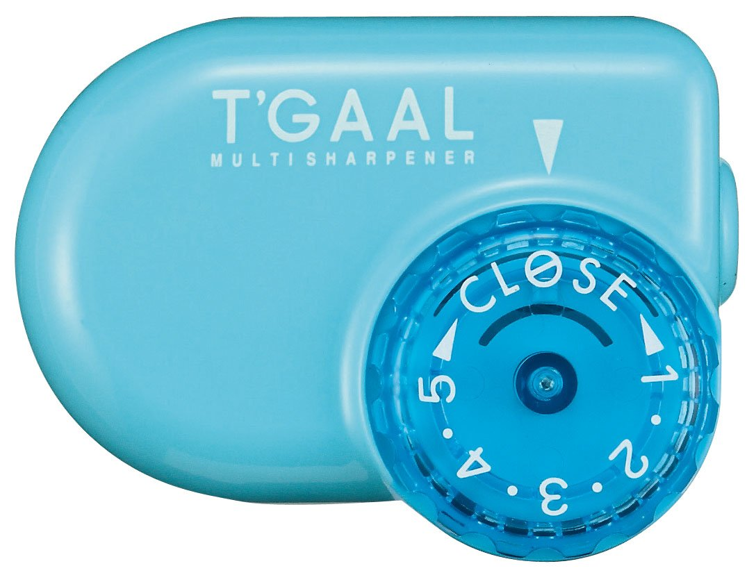 Kutsuwa STAD Angle Adjustable Pencil Sharpener T'GAAL, Light Blue (RS017LB) NaSh-Design