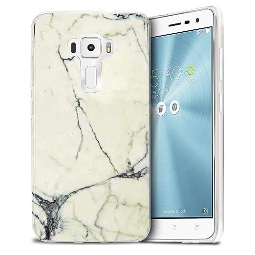 13 opinioni per Asus Zenfone 3 ZE552KL Custodia Cover, WenJie Bianco Marmo Silicone Case TPU