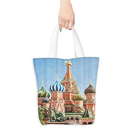 Amazon com: Shopping Tote BagFamous Saint Basils Cathedral