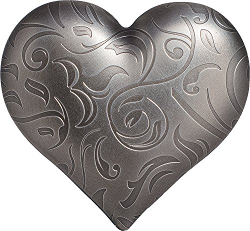 2018 PW Symbols Shapes PowerCoin SILVER HEART Shape 1 Oz Silver Coin 5$ Palau 2018 Antique Finish