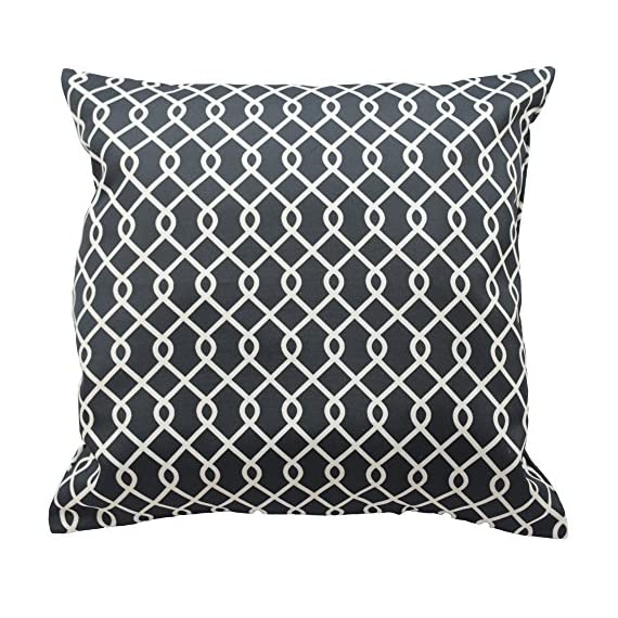 Traditions By Waverly 14311018X018OYX Ellis 18-Inch by 18-Inch Decorative Pillow Set (2 Pack), Onyx - 2-Pack pillow set Coordinating Ellis window panels and valance sold separately 100% polyester - living-room-soft-furnishings, living-room, decorative-pillows - 61L8XB659WL. SS570  -