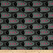 Cotton + Steel Magic Forest Fish Charcoal Fabric By The Yard
