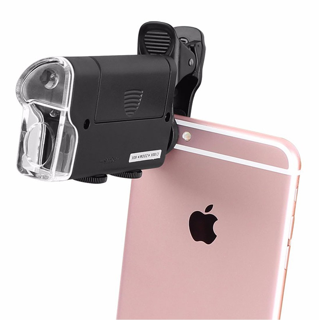 Universal Mobile Phone Microscope Macro Lens 60/100 X Optical Zoom Magnifier Micro Camera Clip LED Lenses for iPhone SE 5S 6S Plus DBS