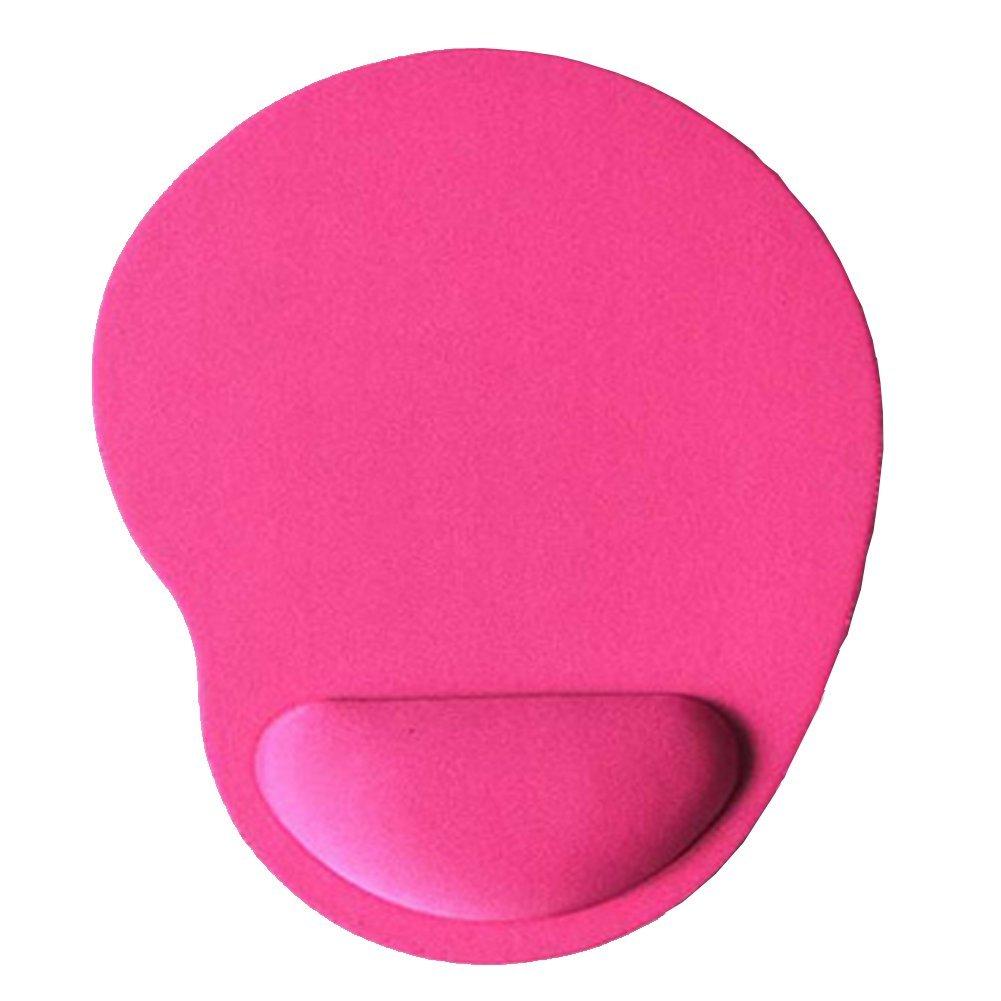Daliuing Tappetino per Mouse Tappetino ergonomica di Mouse per Gaming con Poggiapolsi Cuscino di Gel Mouse Pad Antiscivolo Colori/ /Rose Rosso