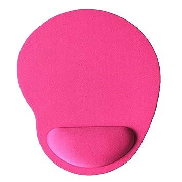 Westeng Alfombrilla de Ratón con Reposamuñecas Mouse Pad Color Sólido Accesorios para el Mouse Cojín de Muñeca Alfombrilla Gaming Size 23x18x2cm (Rosa ...