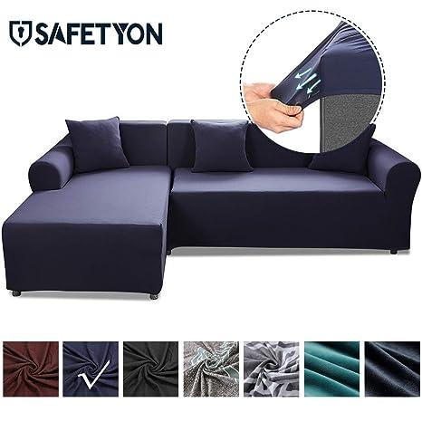 Amazon.com: Funda de sofá de arena SAFETYON elástica para ...