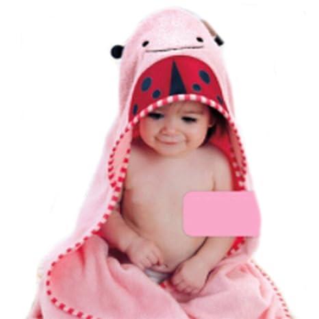 albeey de algodón para bebé con capucha toalla de baño (Wrap Robe ...