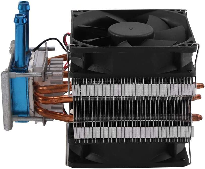 Thermoelectric Peltier Refrigeration,12V DIY Water Cooling System Cooler Device with Fan,Use to Connect the Pump and the Power Supply,Fish Tank Cooling,Computer Water Cooling Semiconductor Coolers