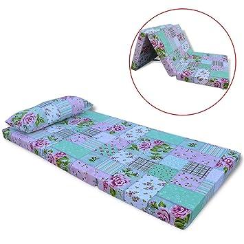 Tuduo colchón Plegable para Niños con diseño de Flores Elegante, cómodo y Simple colchones Cuna Camas y Accesorios: Amazon.es: Hogar