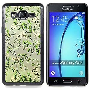 Stuss Case / Funda Carcasa protectora - Positivo Flores felices Focus verde - Samsung Galaxy On5 O5