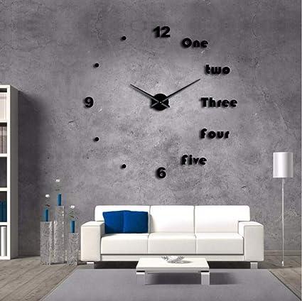 Gwgdjk DIY Gran Reloj De Pared Moderno Arte De La Pared Decoración para El Hogar De