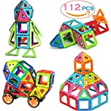 SASRL Magnetic Blocks Toys Educational Building Tiles Blocks Stack Toys Set -112PCS