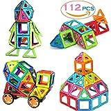 #2: SASRL Magnetic Blocks Toys Educational Building Tiles Blocks Stack Toys Set -112PCS