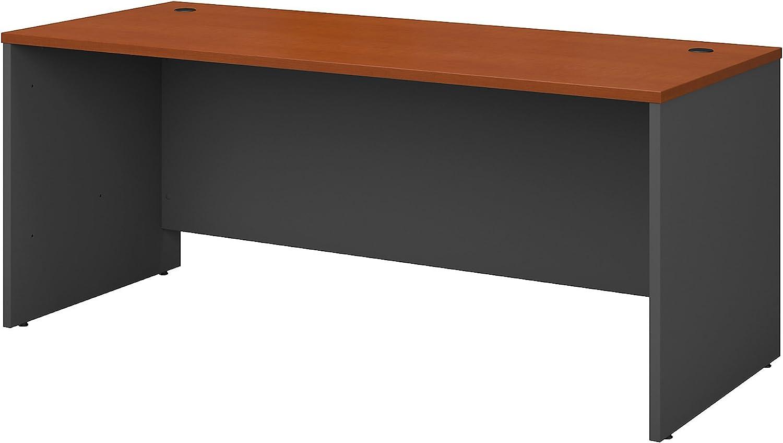 Bush Business Furniture Series C 72W x 30D Office Desk in Auburn Maple