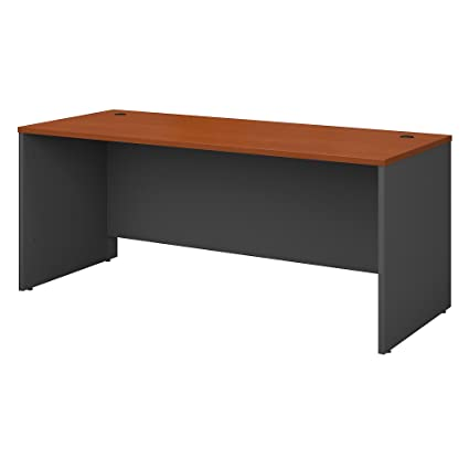 Bush Business Furniture Series C 72W X 30D Office Desk In Auburn Maple