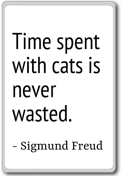 Amazoncom Time Spent With Cats Is Never Wasted Sigmund Freud