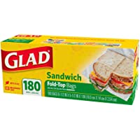 Glad Fold Top Sandwich Bags, 180s