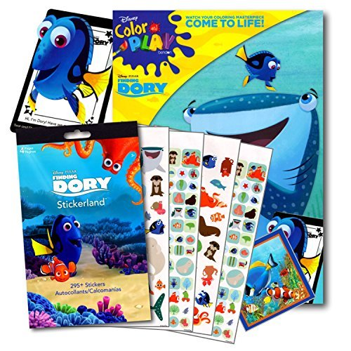 Disney Studios Finding Dory 96 Page Coloring Book Set with 296 Sticker