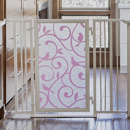 Fusion Gates Baby & Dog Gate featuring Songbirds in Pink Art