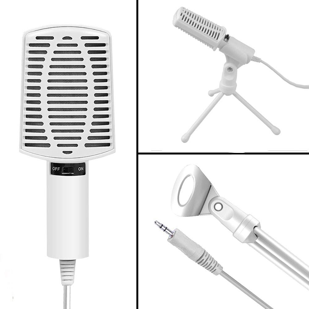 ZYG.GG PC Microphone, Plug &Play Home Studio Cardioid USB Condenser Microphone for Skype, Recordings for YouTube, Google Voice Search, Games(Windows/Mac)