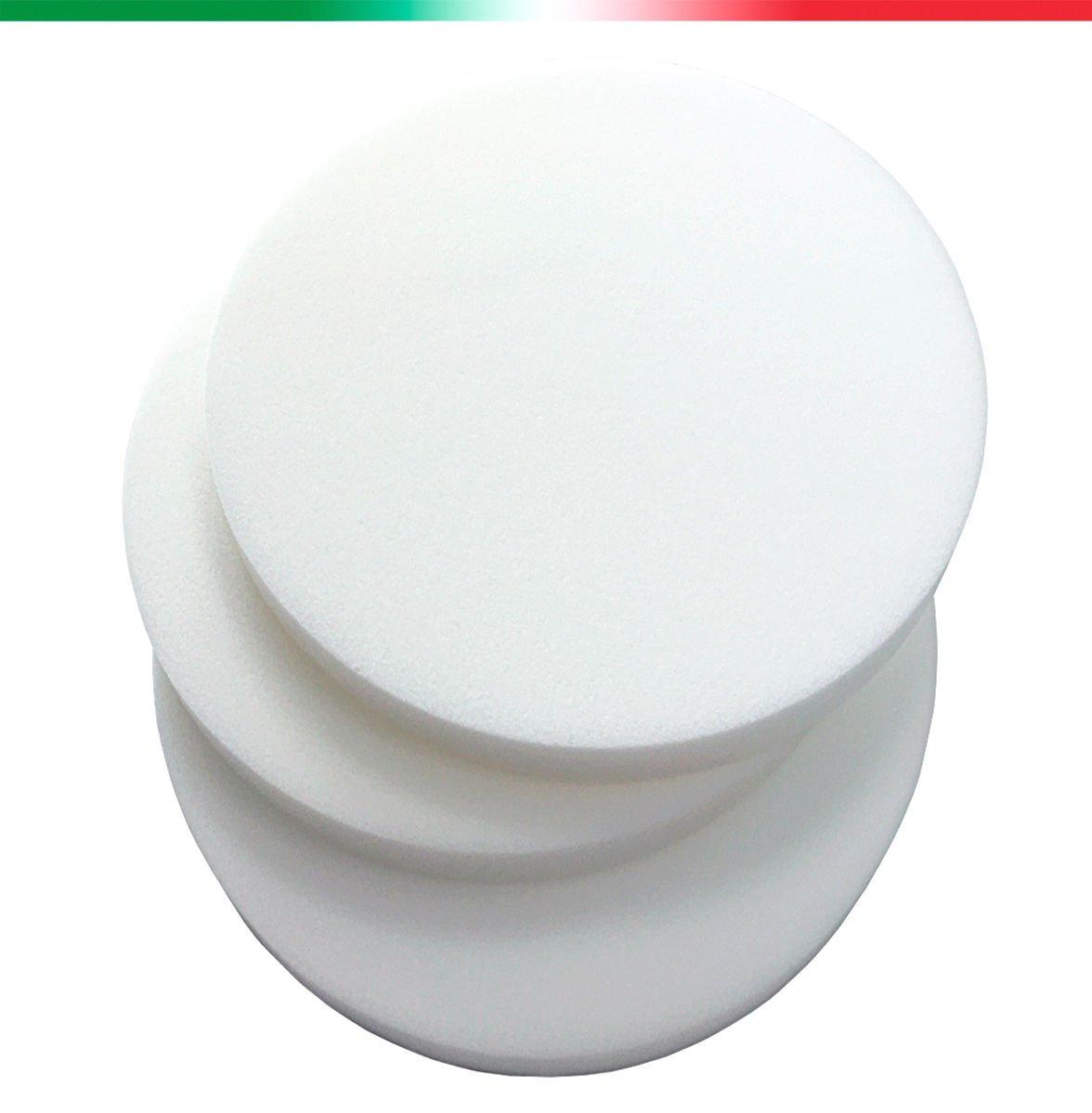 Spugna Gommapiuma Tonda Diametro 41cm Spessore 3 Poliuretano Espanso Imbottiture Alta Densità 25 100% Made In Italy mod.SPUGNA TONDA 41 EMMEVI