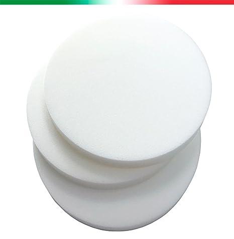 ARREDIAMOINSIEME-nelweb Esponja gomaespuma Redondo diámetro 41 cm Grosor 3 Poliuretano expandido Rellenos Alta Densidad