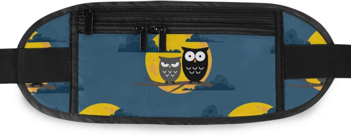 Travel Waist Pack,travel Pocket With Adjustable Belt Halloween Pattern Cute Owls Full Running Lumbar Pack For Travel Outdoor Sports Walking