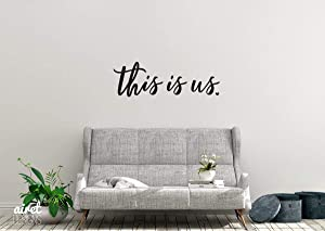 This is Us - Vinyl Decal Wall Art Decor Sticker - Photo Gallery Story Wall Home Decor House Living Family Entry Hall Decoration v2