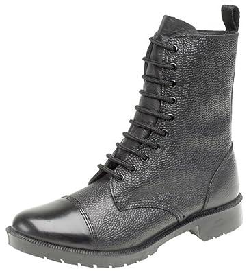 grafters 10 eye cadet parade boots hi shine toe cap amazon co uk