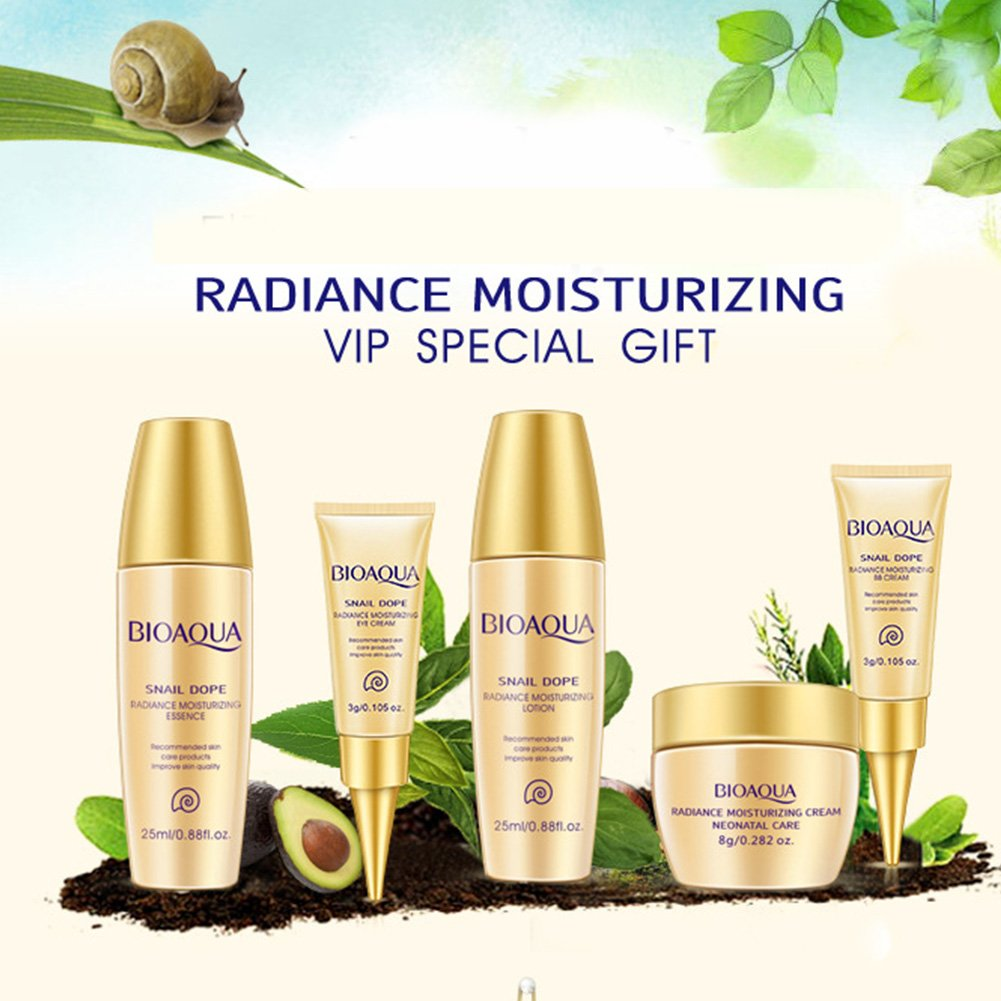 5ce1947321f9 Amazon.com: BIOAQUA 5PCS Whitening Cream Face Skin Care Set Facial ...