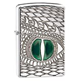 Zippo Armor Dragon's Eye Pocket Lighter, High Polish Chrome