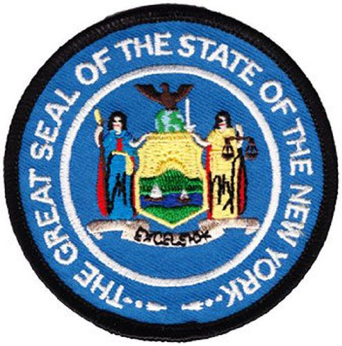 New York - 3 in Round State Seal Patch