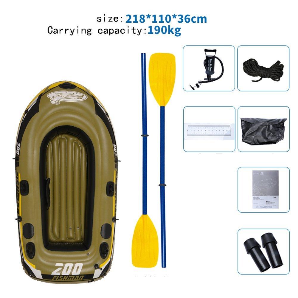 Barco De Goma Engrosamiento Bote Inflable Barco De Pesca Barco Kayak Barco De Pesca Personas Yate Amortiguador Barco De Pesca XXBB