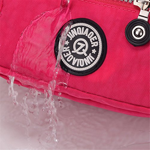 Chou Girls Shoulder Cross amp; Women Body Tiny Water Resistant Solid Color Bag Azure for Nylon Handbag Mini pq1qdwfnZ