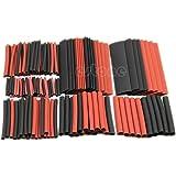 150 piezas 2:1 HeroNeo negro y rojo poliolefina tubos termorretráctiles Envoltura de alambre yogastudio