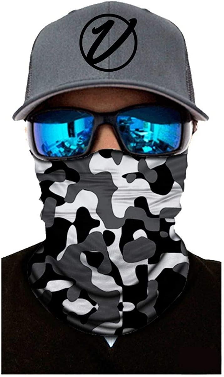 VulgrCo Camo Series Original Fishing Hunting Outdoor Neck Gaiter Face Armor Neck Protector Mask Bandana Headband for Men and Women Perfect for Warm and Cold Weather
