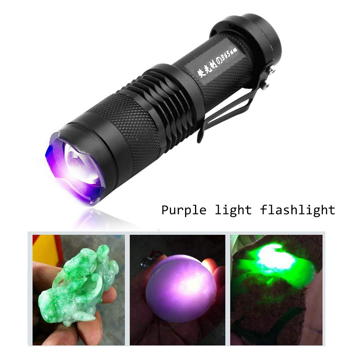 Lamijca UV Detector Ultra Violet LED Flashlight Backlight 395nm Inspection Lamp Torch for Dog Cat Urine Pet Stains Scorpions