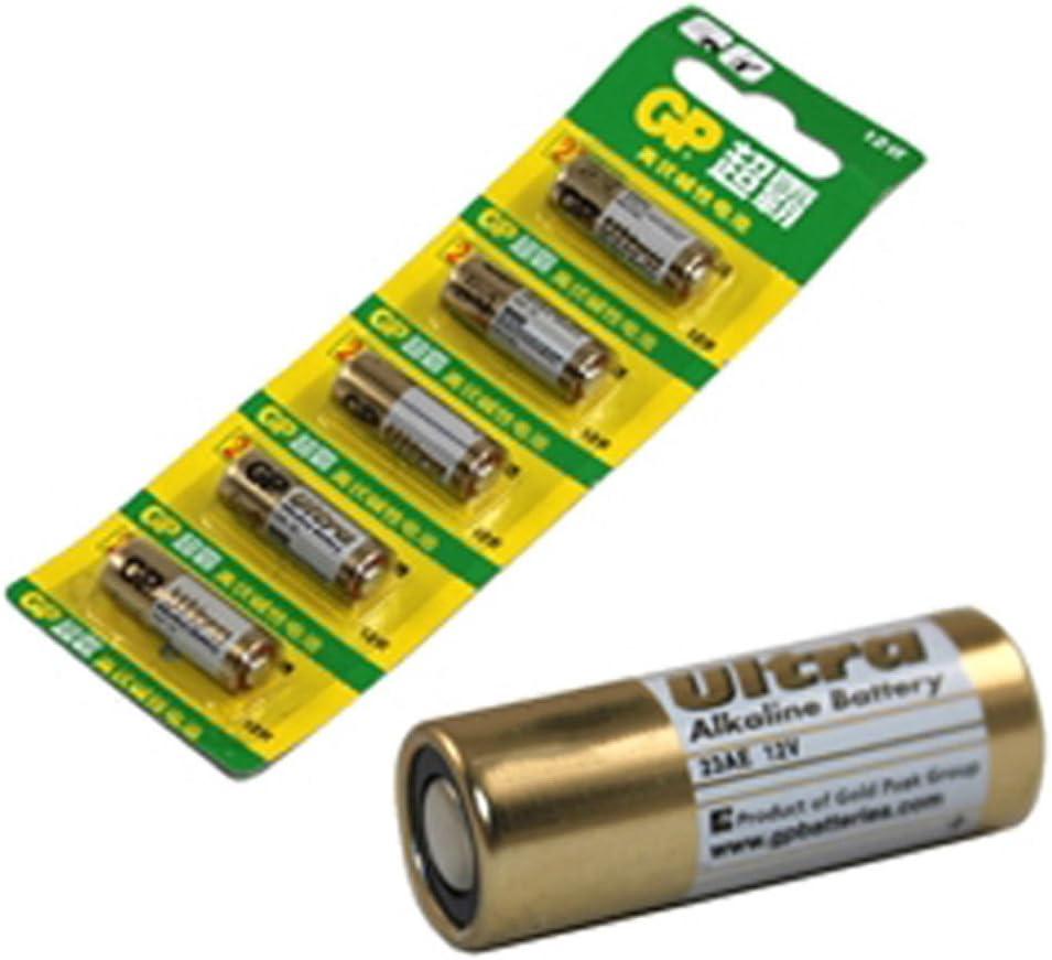 jaune FairytaleMM 5pcs GP MN21 A23 V23GA VR22 piles alcalines 12V 23A pour alarme calculatrice /à distance montre jouet pointeurs laser