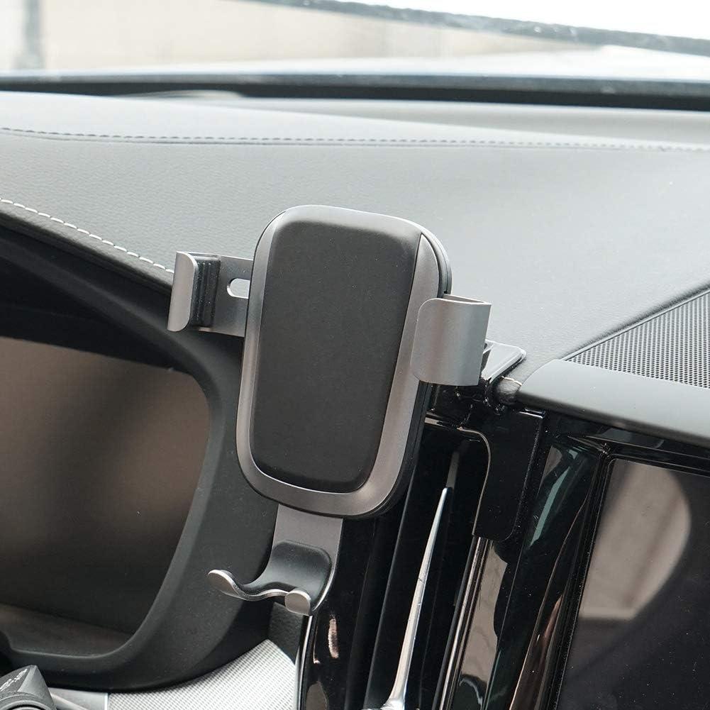 Handy Halterung Für Volvo Xc60 Armaturenbrett Verstellbare Handy Halterung Für Volvo Xc60 2019 2018 2017 Handy Halterung Für Iphone 8 Iphone X Kabelloses Laden Smartphone 14 Cm 15 2 Cm Elektronik