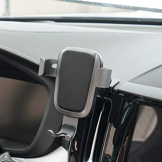 Phone Holder for Volvo XC60, Dashboard Air Vent Adjustable Cell Phone  Holder for Volvo XC60 2019 2018 2017,Phone Mount for iPhone 8 iPhone  X,Wireless