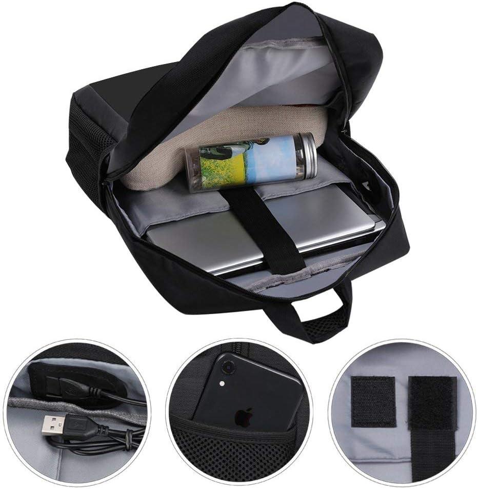 A Trip to The Moon Rocket Backpack Daypack Rucksack Laptop Shoulder Bag with USB Charging Port