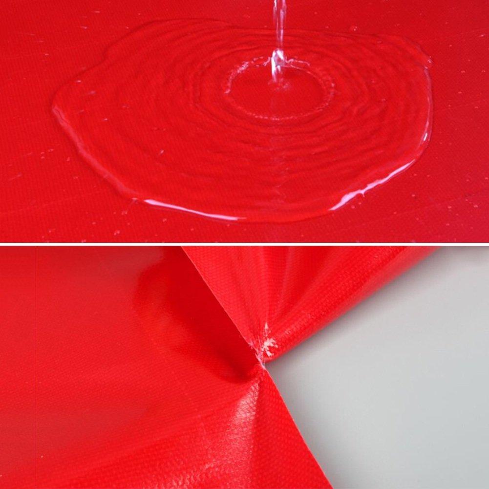 GLJ Rote Messer Schuppen Kratzen Tuch Hochzeit Party Schuppen Tuch Versenkbare Schuppen Messer Tuch Push-Pull-Plane Markise Leinwand Wasserdicht Sonnencreme Regen Tuch Plane (größe   5 x 6M) 0cbe58