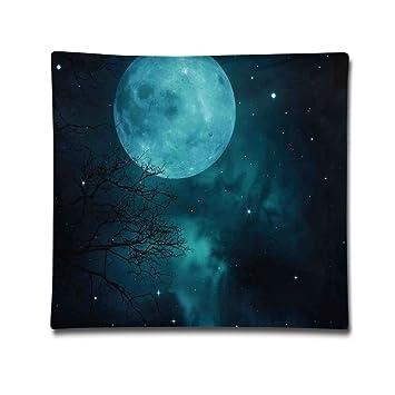 Amazon.com: Luna en cielo estrellado Universo Espacio ...