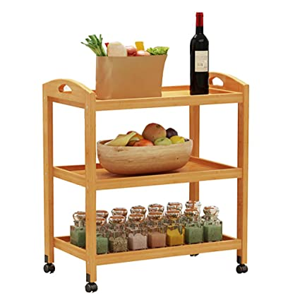 Amazon.com - Kitchen Shelf Tea Rack, Solid Wood Multi ...