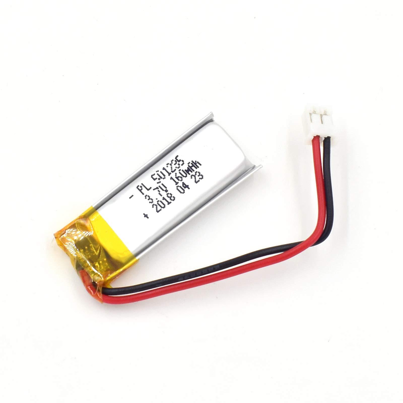 Bateria Lipo 3.7V 160mAh 501235 Recargable JST Conector