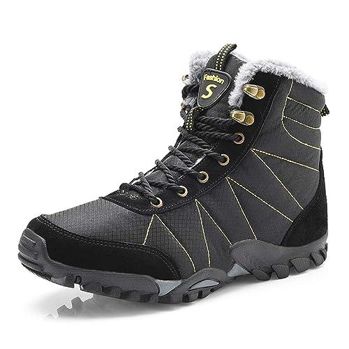 Hombre Botines Zapatos Botas De Nieve Invierno Cortas Fur Aire Libre Boots: Amazon.es: Zapatos y complementos