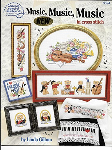 Music, Music, Music in Cross Stitch by Linda Gillum (1992-08-02)