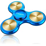 ATESSON Fidget Spinner Toy, 4 to 10 min Spins, Ultra Durable Stainless Steel, Bearing High Speed Precision Metal Material Hand Spinner